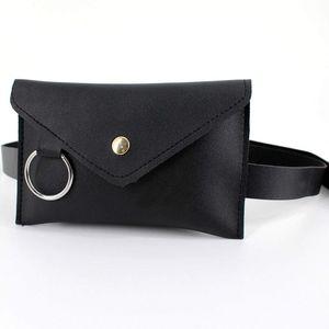 Slim Belt Fanny Pack PU Leather Envelope Waist Bag